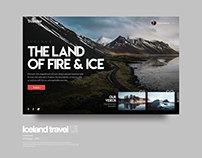 Iceland Travel Concept