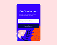 Daily UI Day #26: Subscribe