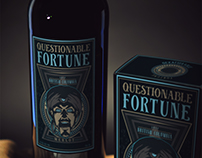 Questionable Fortune Merlot: Wine Label Design