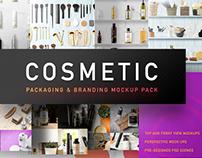 Cosmetic Packaging And Branding MockUp Pack