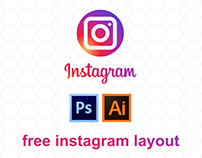 Free instagram layout