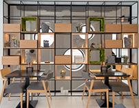 "Interior design of the restaurant ""Osho"""