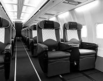 Klasjet Boeing LY-JMS Interior