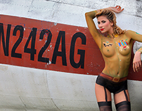 Army Pin Up Bodypainting