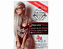 Flyer promoção Tattoo Mania