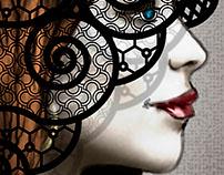 Fashion Illustration, double layered hood