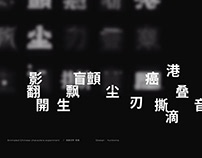 Animated Chinese characters