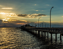 August Sunset From Fairhope Pier