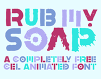 Rub My Soap! Free Animated Font