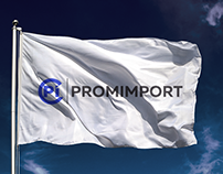 """Promimport"" logo and identity"