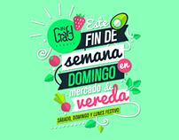 Poster Incraft en Domingo Mercado de Vereda