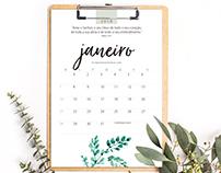 Calendário 2018 - free download