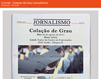Convite - Colação de Grau (Jornalismo)