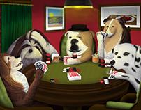 Perros al poker