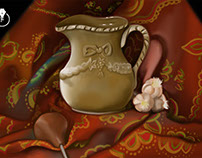 Still Life painted in Adobe Photoshop CC
