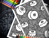 Colouring Page - Roller Wheels