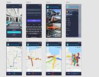 UI-UX (iPhoneX) for Jtransmap.com App.