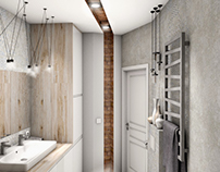Design bathrooms in tenement house - Old town of Sopot