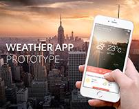 UX/UI Weather app prototype