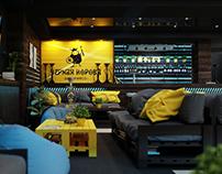 Дизайн-проект стейк-хауса «Черная корова»