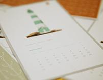 2014 Lighthouse calendar illustrations.