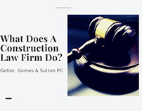 What Does A Construction Law Firm Do?