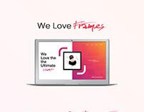 FRAMES | Header UI/UX design