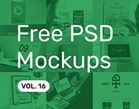 Free PSD Mockups vol. 16