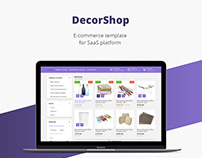 Decor shop/E-commerce template/Web design/UI/UX