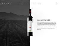 Kamar Wine Website Design