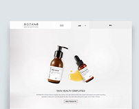Botane Skin Care  E-commerce website
