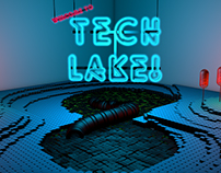 Create a Tech Lake Scene in Cinema 4D.