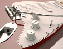 Fender Stratocaster FREE 3D model download