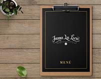 MENÚ - Juana La Loca Restaurante