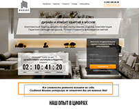 "Landing page ""Repair and design of apartments"""