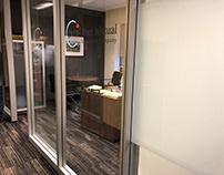 Peel Mutual's new washroom, and walls