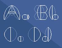 Cooper Blueprint Font Poster