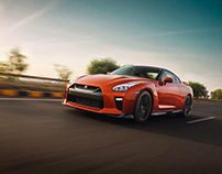 Nissan GT-R Ripping the Freeway