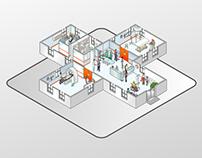 Saatchi isometric App