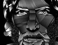 Daniel Bryan: Linocut {Illustration}