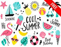 Free Summer Sticker Set
