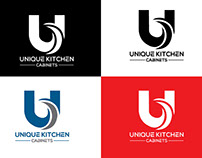 Unique Kitchen Cabinets Logo Design