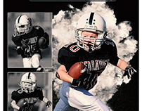 Football Sports memorymate photography template