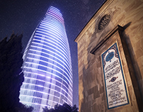 Evening and Night in Baku