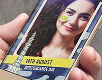 App design - Pakistan Flag Photo Editor on Face