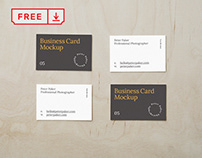 Free Scattered Business Card Mockup