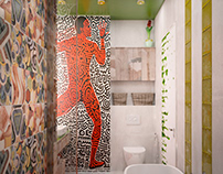 Bathroom design in Kiev, Ukraine