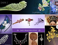 E-commerce site for hair accessory retailer (Magento)