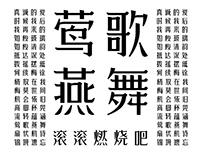 字体传奇菠萝体字库字样设计-张家佳
