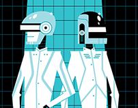 Daft Punk / Get Lucky-TRON Tribute art.